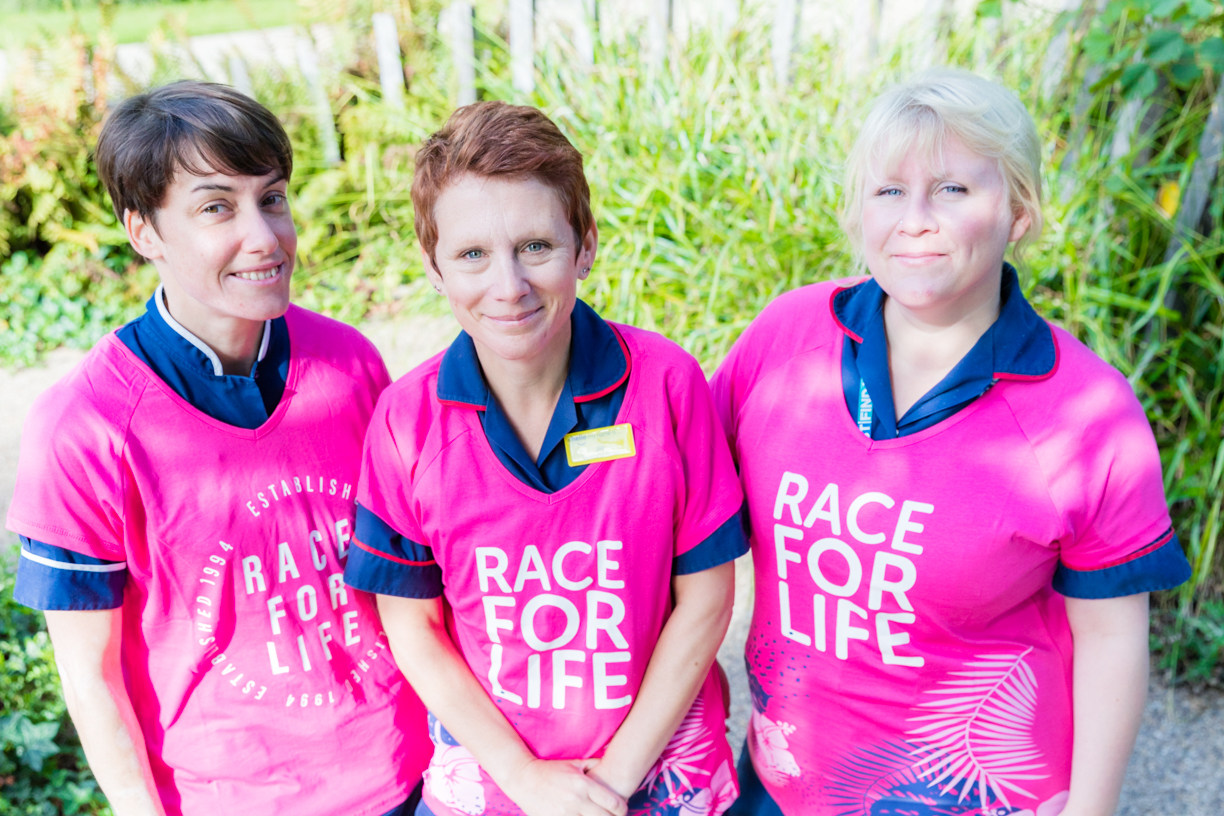 Lucy, Jill and Charlotte who are taking part in a Very 2020 Race for Life