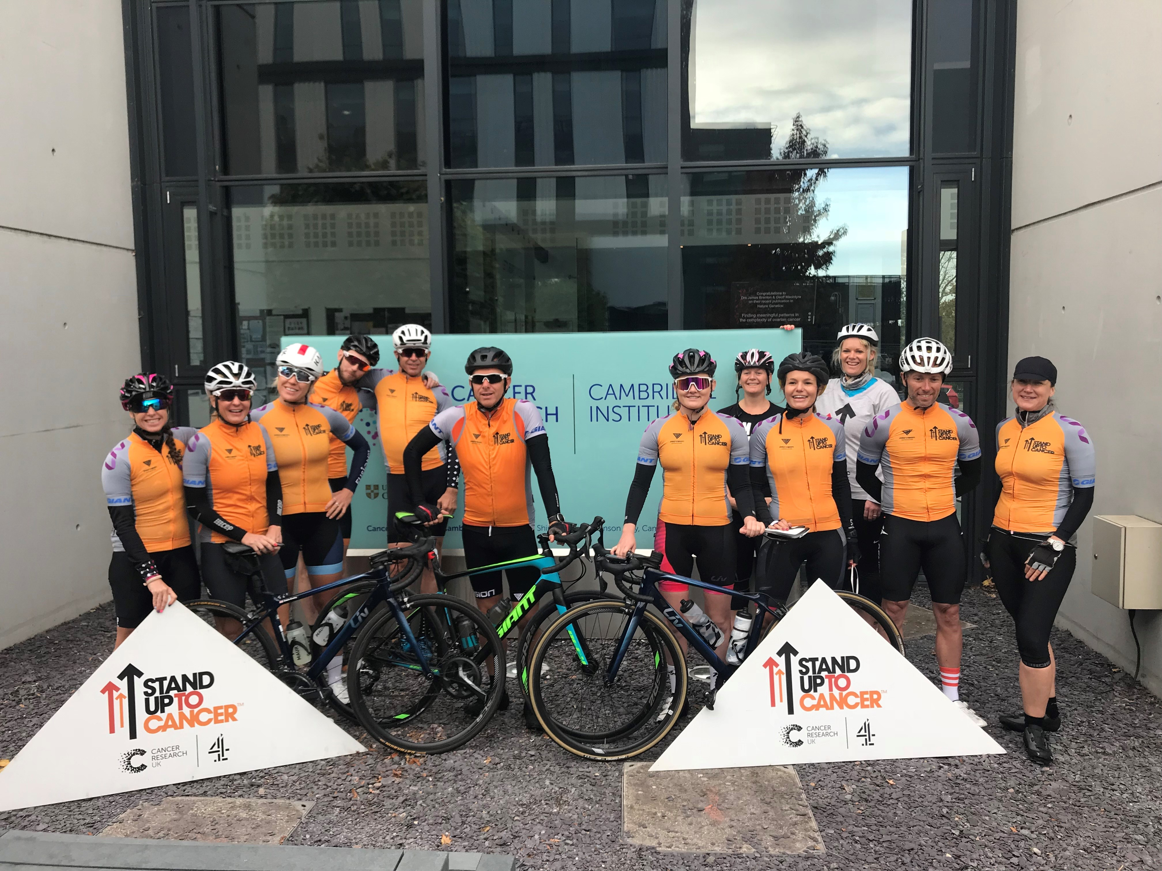 Stand Up To Cancer Cyclists On Final Cambridge London Leg