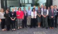 The OECI peer review team with members of the CRUK Cambridge Centre during the site visit in July 2019