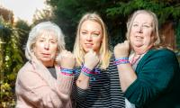 L-R Gail, Becky and Debbie are wearing Unity Bands in support of World Cancer Day