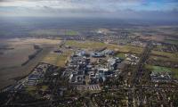 Aerial photo of the Cambridge Biomedical Campus